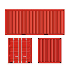 Cargo container for shipping vector