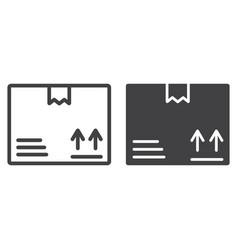 carton box line and glyph icon logistic vector image