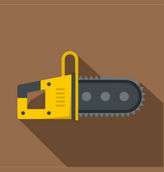 Chainsaw icon flat style vector