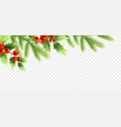 christmas realistic decorations banner design vector image