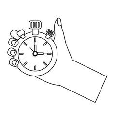 chronometer time clock stopwatch cartoon vector image