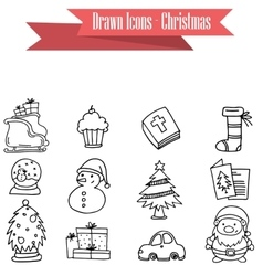 Collection stock of Christmas icons vector