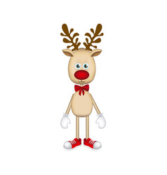 colorful christmas reindeer icon vector image