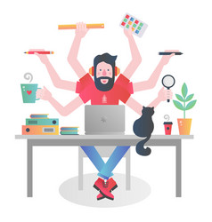 Colorful flat modern gradient character of man vector