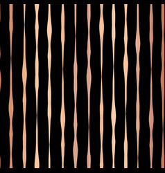 Copper foil hand drawn vertical lines pattern vector