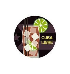 Cuba Libre cocktail Can be used as icon logo vector