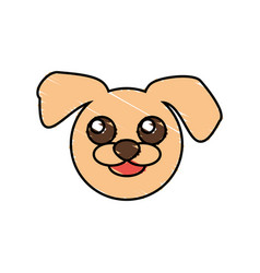 cute dog drawing animal vector image