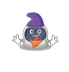 Cute picture astronaut helmet in elf cartoon vector
