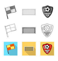 Design of soccer and gear icon collection vector