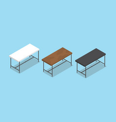 desk or table collection with flat style and vector image