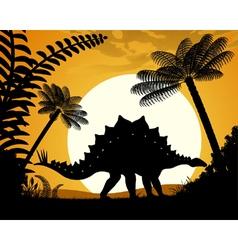 Dinosaur stegosaurus vector