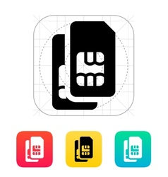 Dual SIM cards icon vector