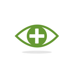 eye pllus logo vector image