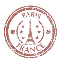 famous tower eiffel on paris vector image