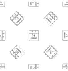 february calendar pattern seamless vector image