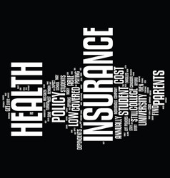 find low cost student health insurance you can vector image