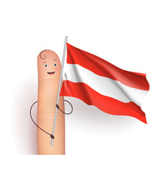Finger with austria flag vector