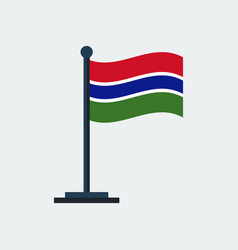 flag of gambiaflag stand vector image
