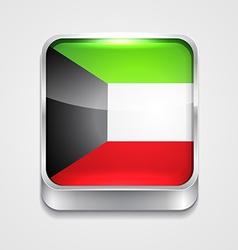 flag of kuwait vector image