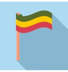 Flag rastaman icon flat style vector