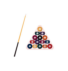 flat billiard snooker symbols set vector image