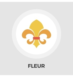 Fleur flat icon Vintage Style vector image