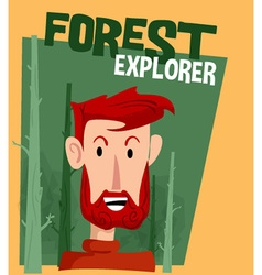 Forest explorer cartoon vector