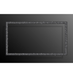 Frame Silver Sequins Rectangle Glitter Sparkle vector
