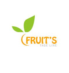 fruits logo vector image