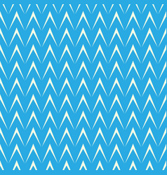 geometric herringbone on blue background vector image