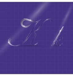 Glassy Semitransparent Italic Letters vector