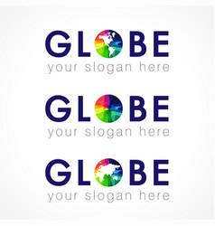 globe logo concept vector image