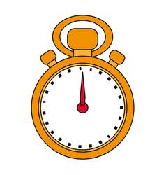 Golden stopwatch design vector