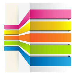 Graph background vector image