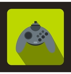 Gray joystick icon flat style vector image