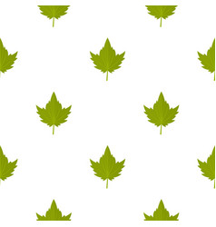 Green currant leaf pattern seamless vector