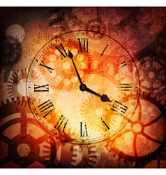 grungy clock vector image