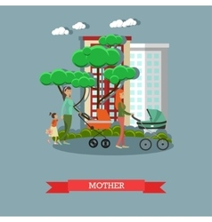 happy mothers with their vector image