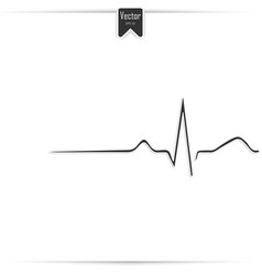 Heart rhythm ecg line symbol icon design vector