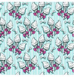 Ice cream seamless pattern sketch vector