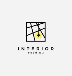 Interior logo design template vector