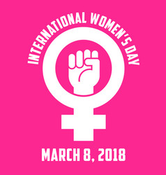 international womens day design vector image