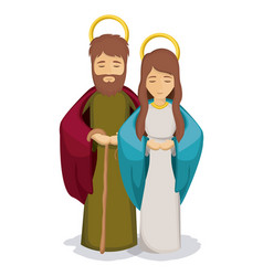 Isolated mary and joseph design vector