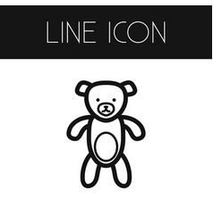 isolated toy outline teddy element can be vector image