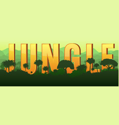 Jungle background forest landscape vector