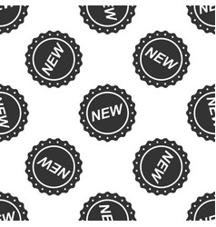 label new sign icon seamless pattern vector image