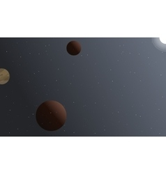Landscape of space planet and light vector