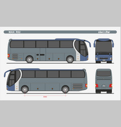 Man lions star r02 passenger bus 2004 vector