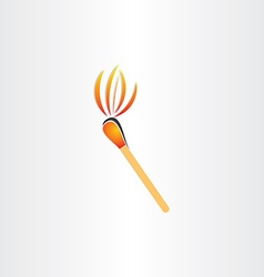Matches burning or fire torch symbol vector