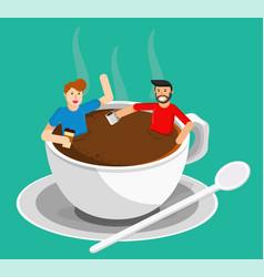 Meeting coffee vector